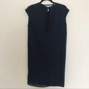 Maison Martin Margiela Navy Blue Sheath Dress SZ40